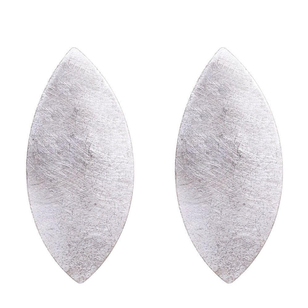 Крупные серьги Petra Meiren из посеребряной латуни