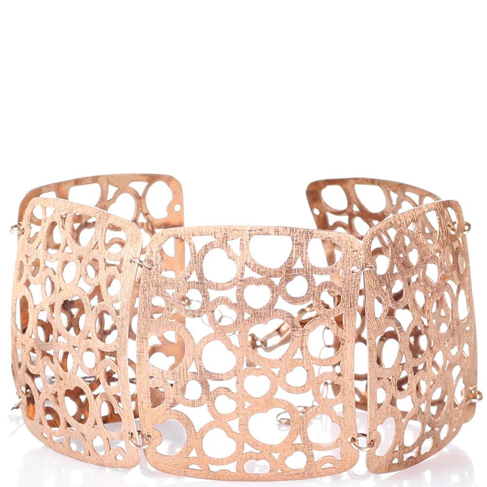 Серебряный браслет Bassani в розовой позолоте