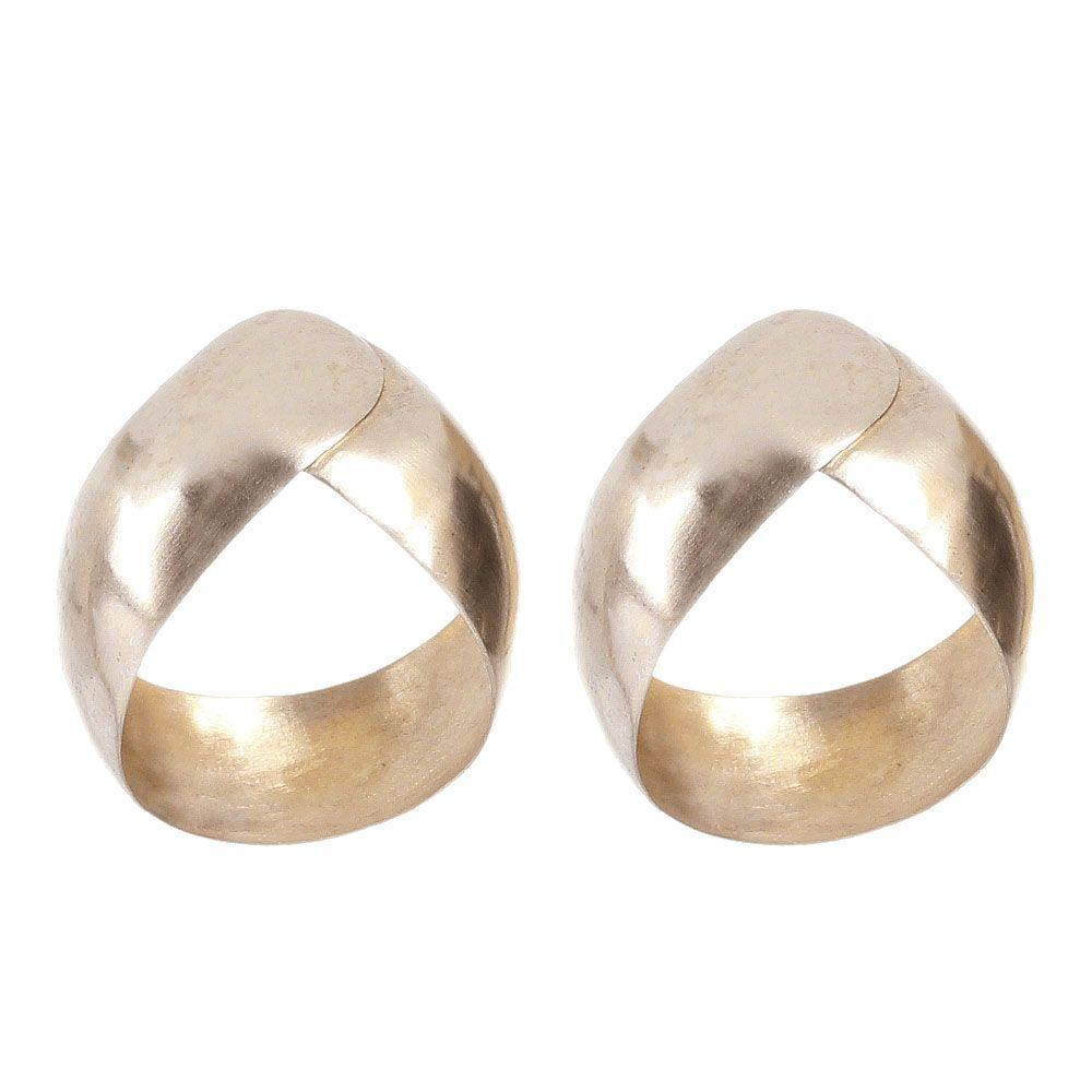 Серебряные серьги Anticoa округлой формы в позолоте
