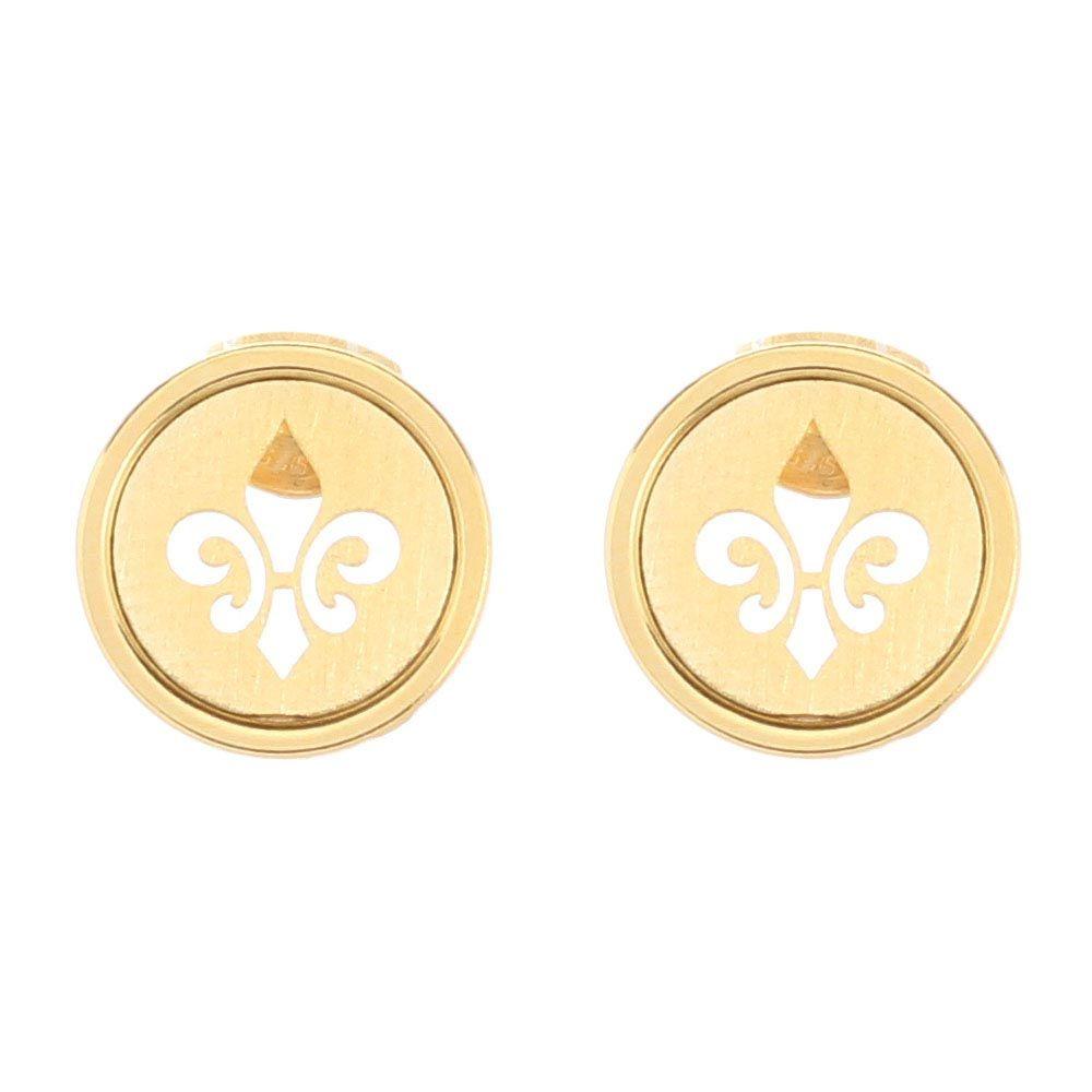 Серьги-пусеты из позолоченного серебра Nomination в виде королевской лилии