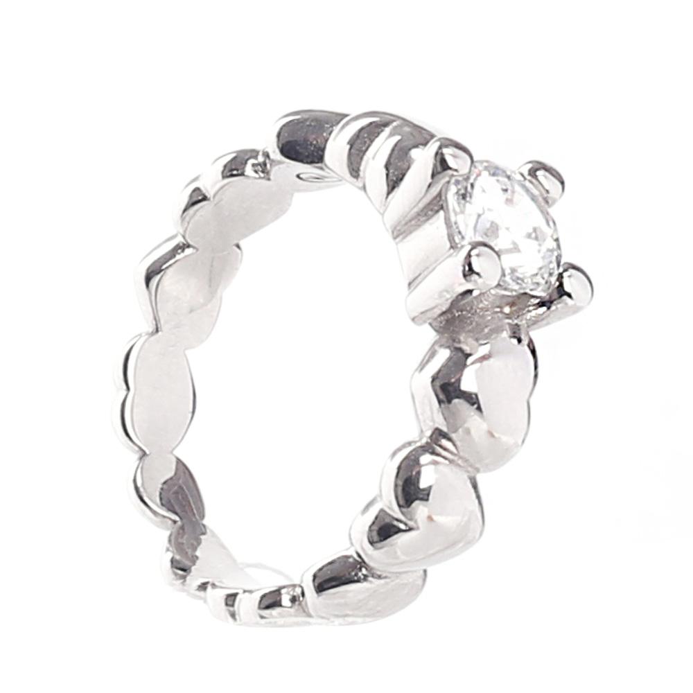 Помолвочное кольцо Nomination Rock с крупным камнем