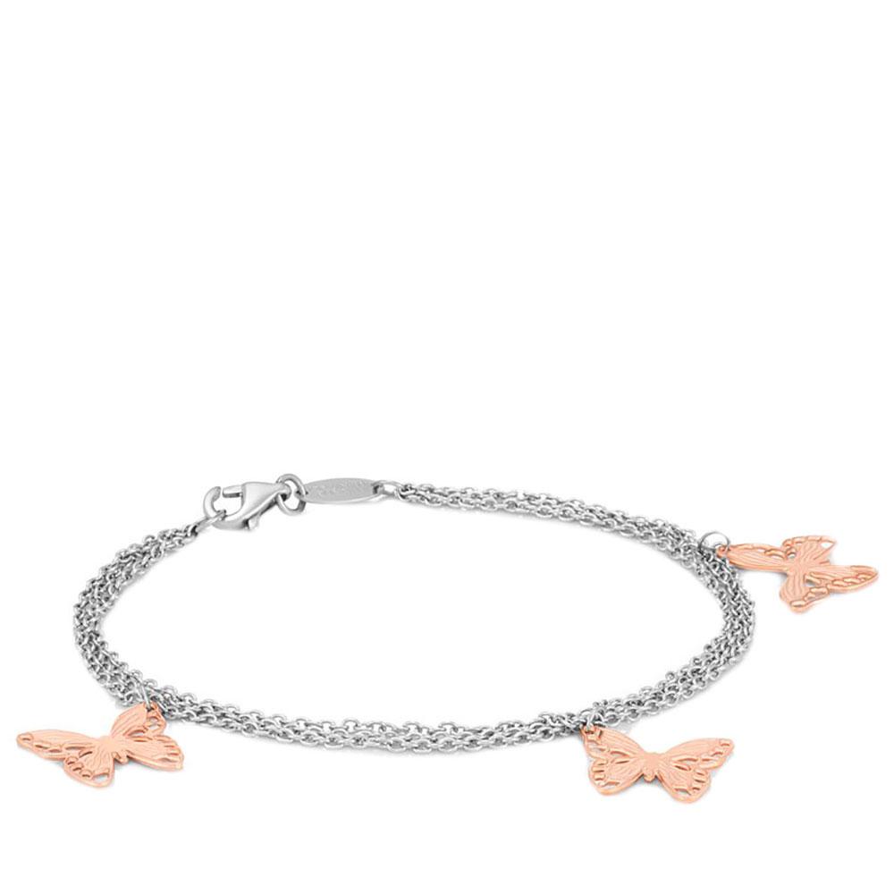 Стальной браслет Nomination Butterfly с подвесками