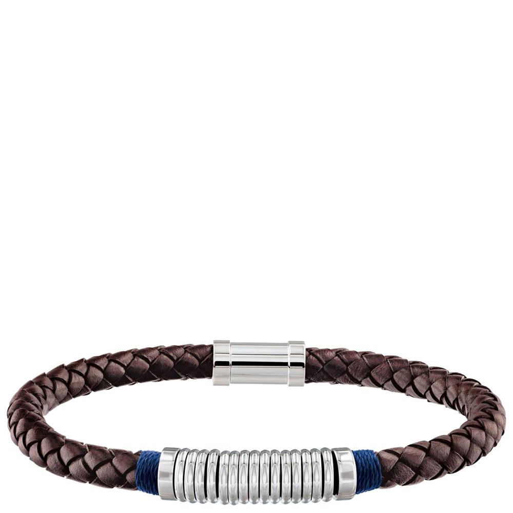 Мужской браслет Tommy Hilfiger коричневого цвета