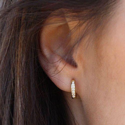 Серьги Aran Jewels серебряные в виде колец с цирконами