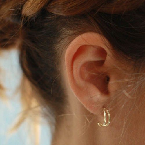 Серьги Aran Jewels с позолотой в виде полумесяцев