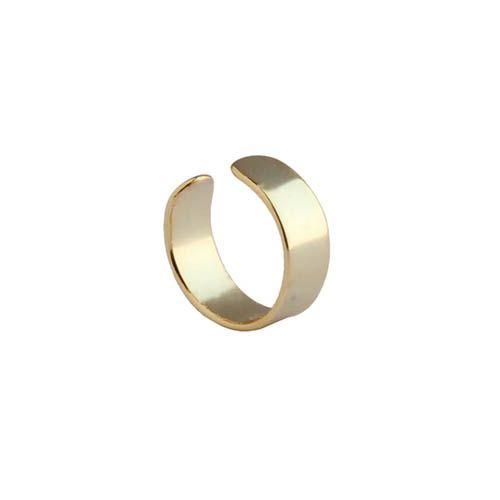 Серьга-кафф Aran Jewels с позолотой в виде кольца