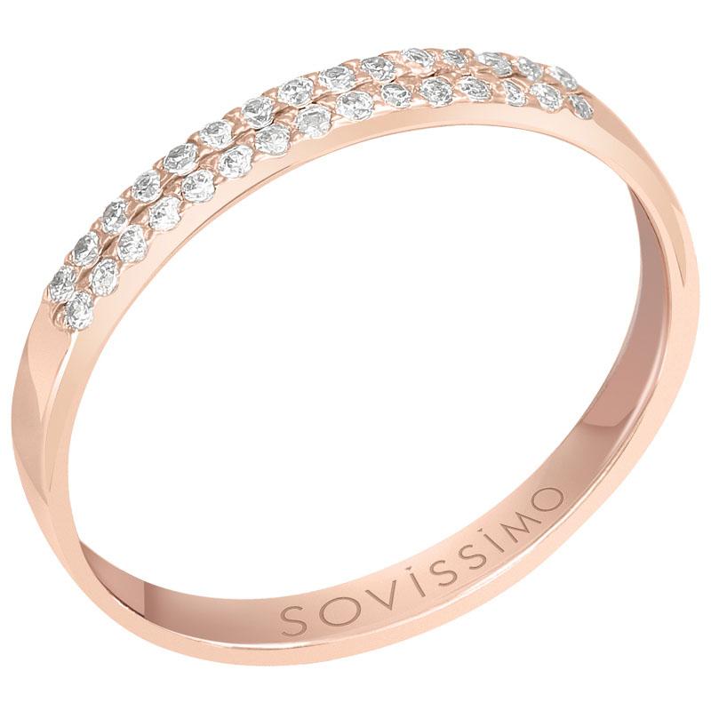 Кольцо из красного золота с бриллиантами Sovissimo 119051920101