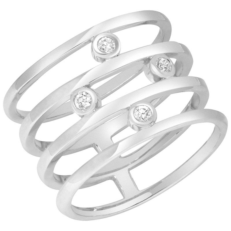 Кольцо из белого золота Sovissimo с фианитами 110113210201