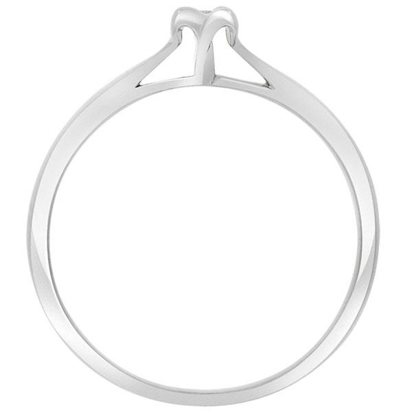 Помолвочное кольцо Sova из белого золота с бриллиантом 110227720201