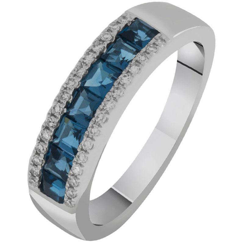 Кольцо из белого золота с топазами и бриллиантами Sovissimo 119092120201