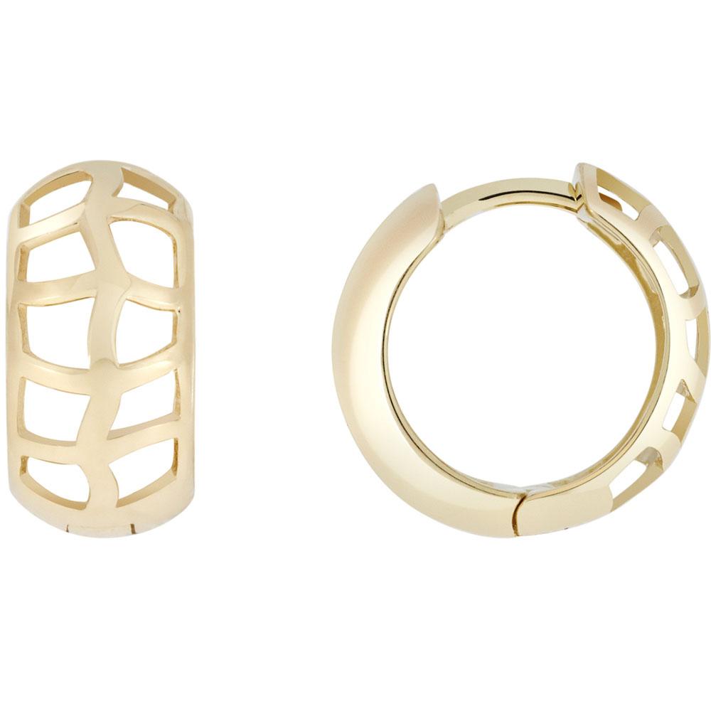 Золотые серьги SOVA в форме широких колец