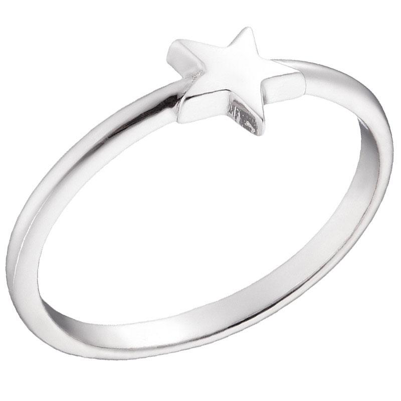 Кольцо из белого золота Sovissimo с объемной звездочкой 100274610201