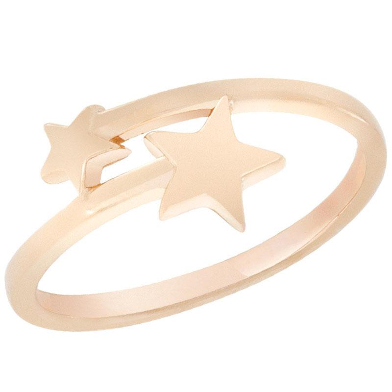 Кольцо из красного золота Sovissimo со звездочками 100285310101