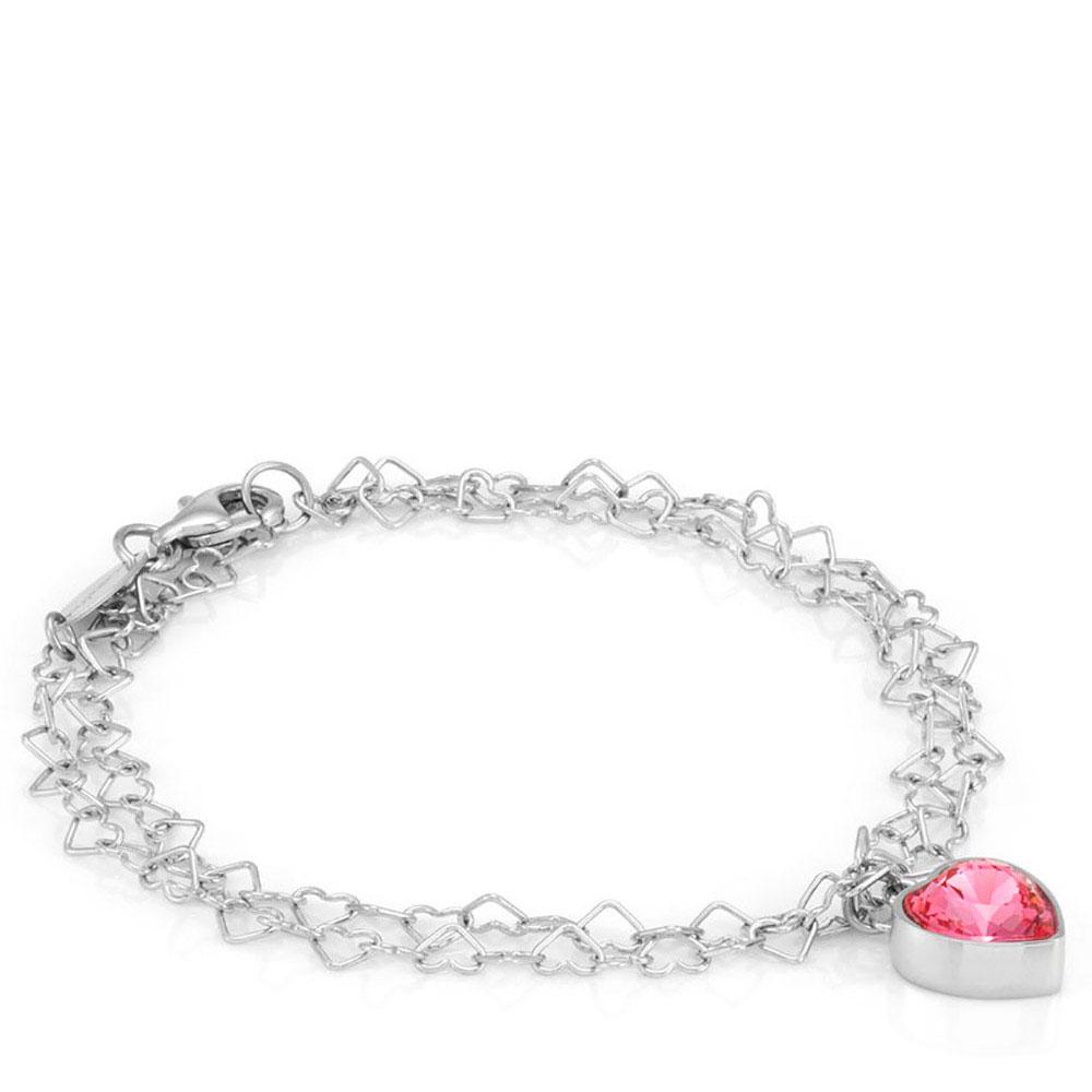 Браслет Nomination Love с розовым сердцем