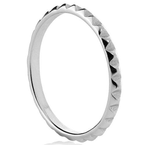 Серебряное кольцо Aran Jewels с геометрическим сечением