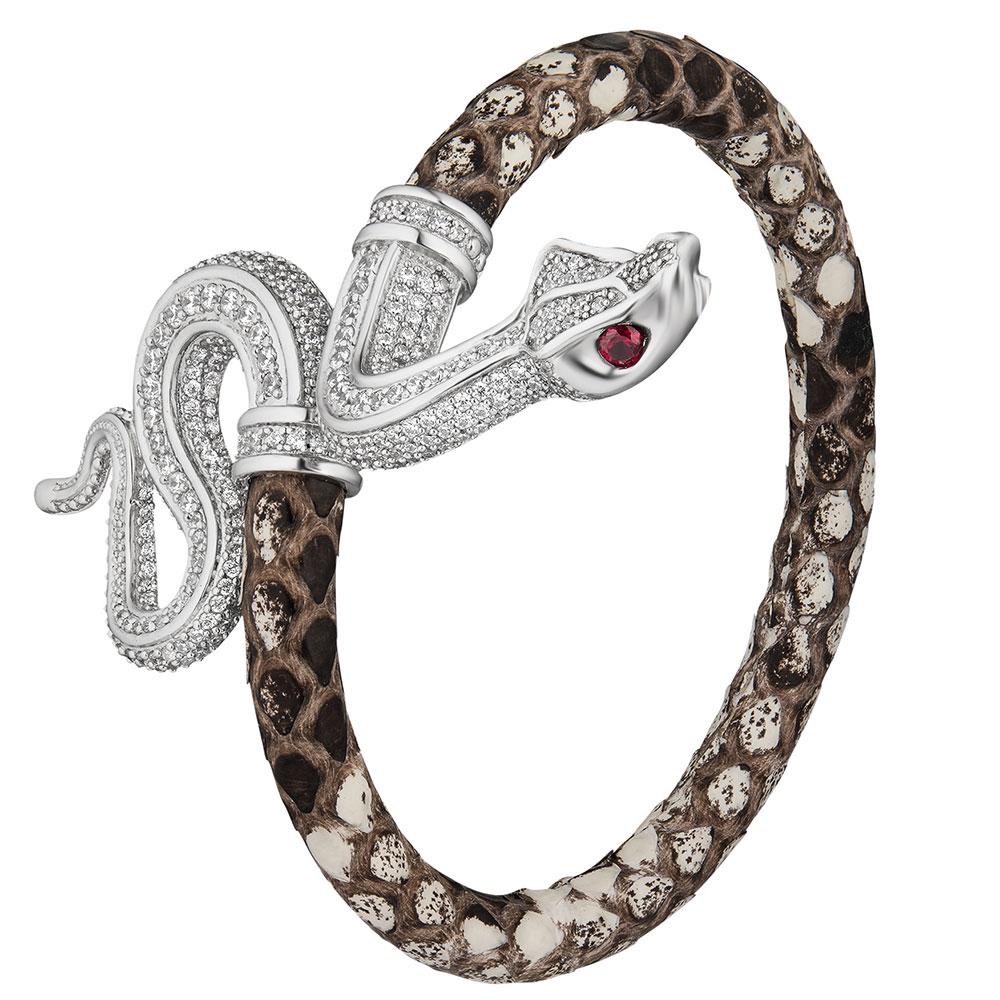 Кожанный браслет Poche Snake