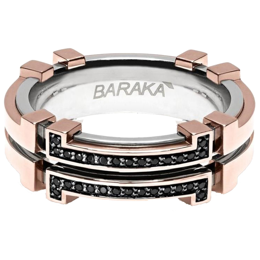 Мужское кольцо Baraka Explore из золота и стали