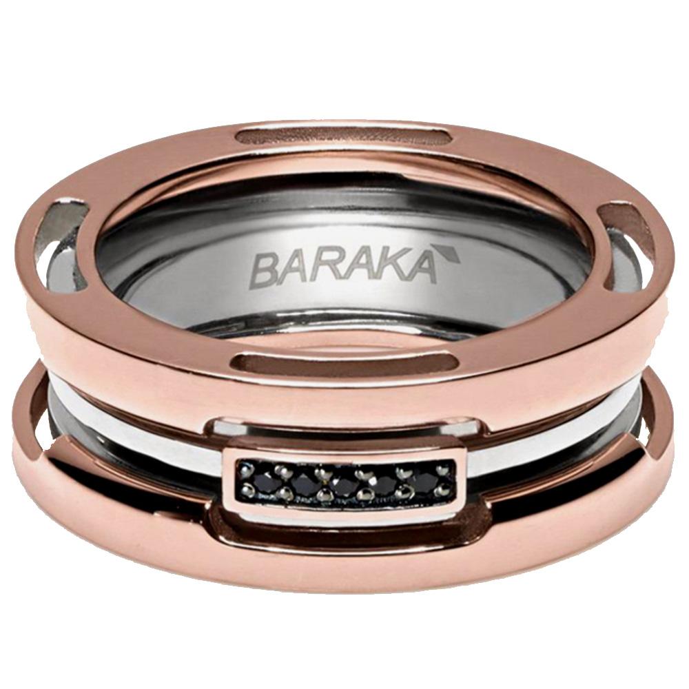 Кольцо широкое Baraka Explore с бриллиантами