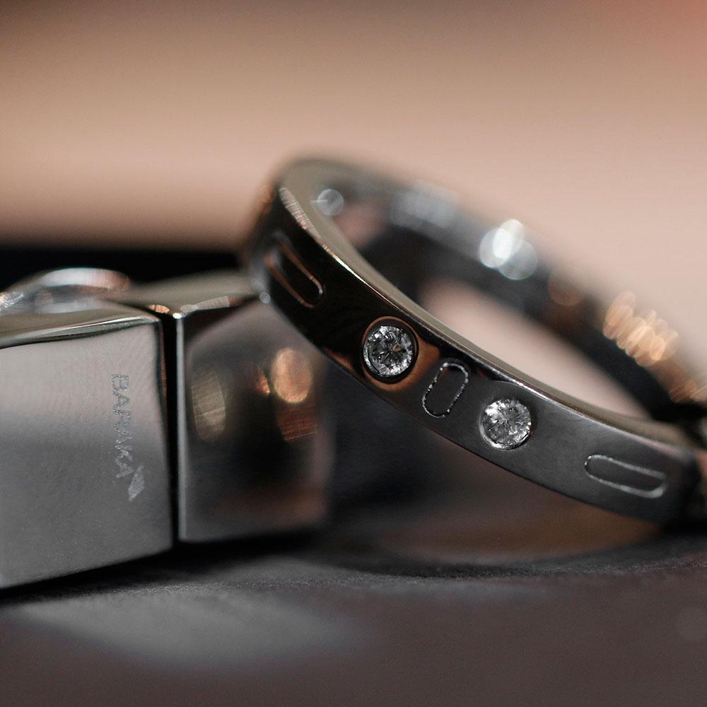 Мужское кольцо Baraka Diamonds из белого золота с белыми бриллиантами