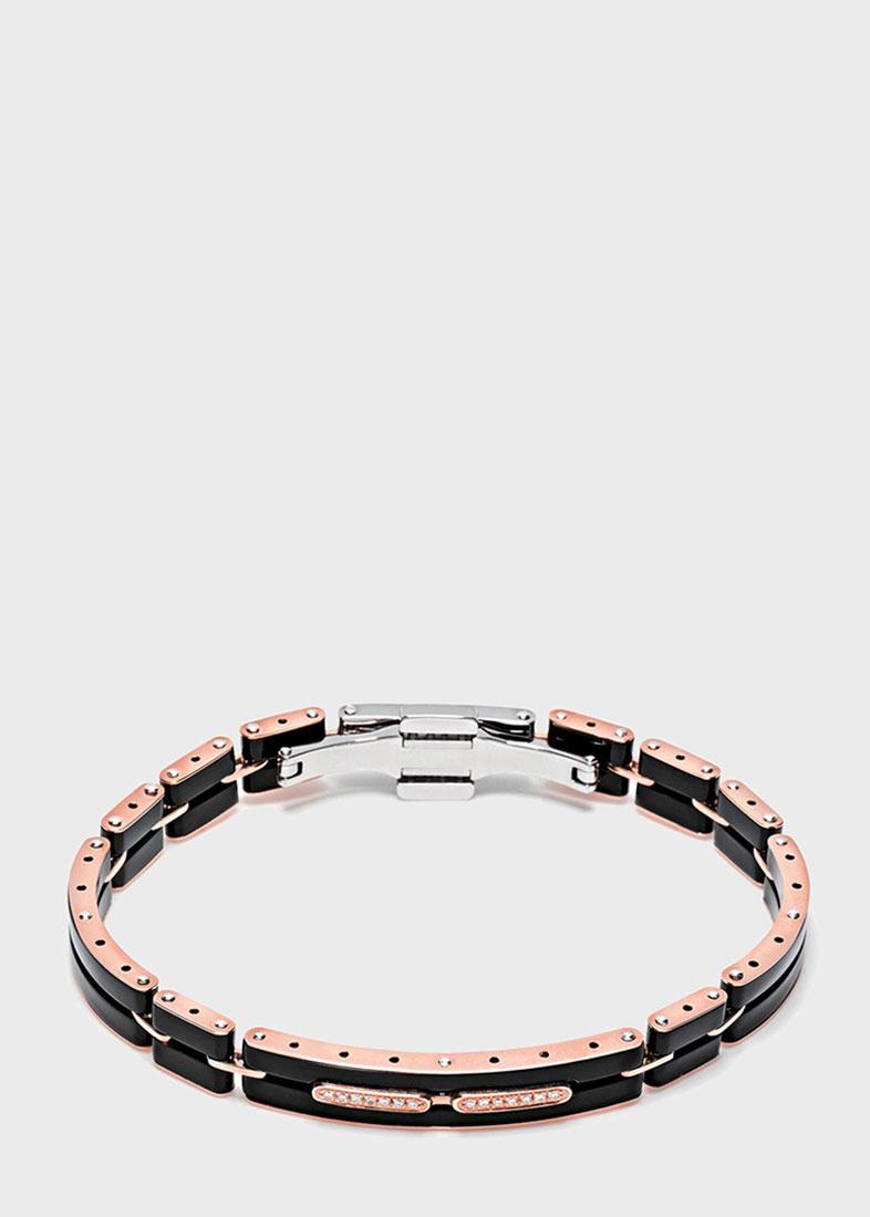 Мужской браслет Baraka Mosaiko из розового золота и черной керамики