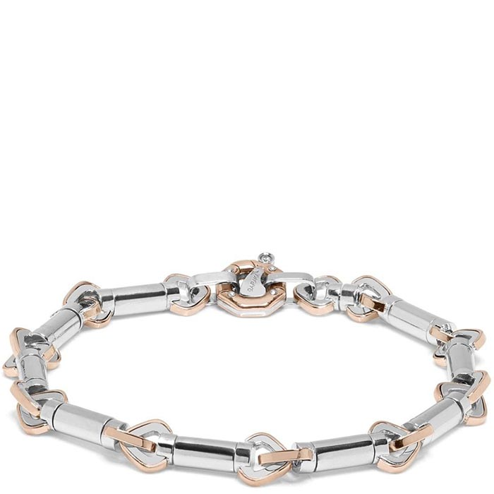 Браслет Baraka Ritmika из стали с элементами розового золота и бриллиантом