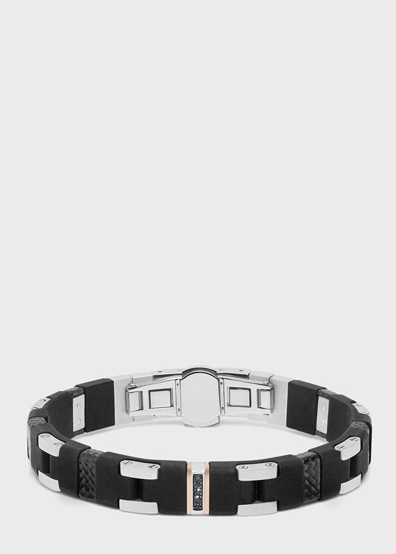 Мужской браслет Baraka с черными бриллиантами
