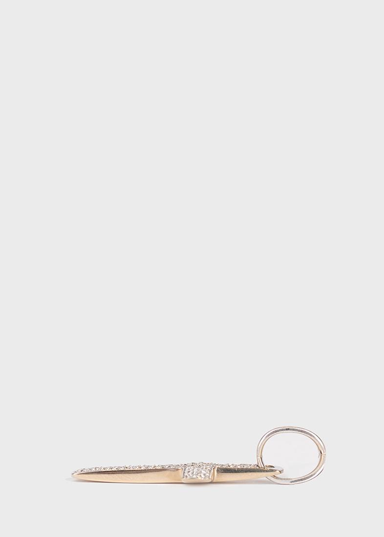 Крестик из белого золота Baraka Diamonds
