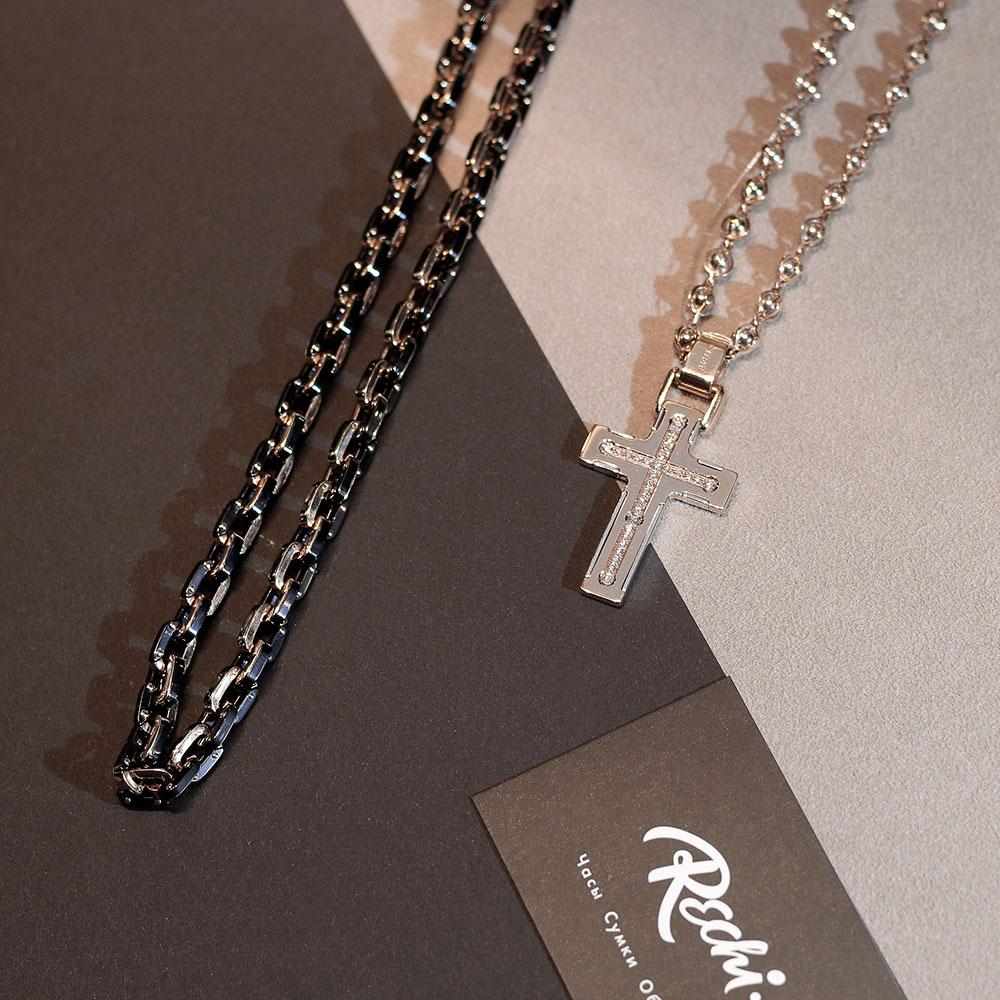 Крестик-подвес Baraka с белыми бриллиантами