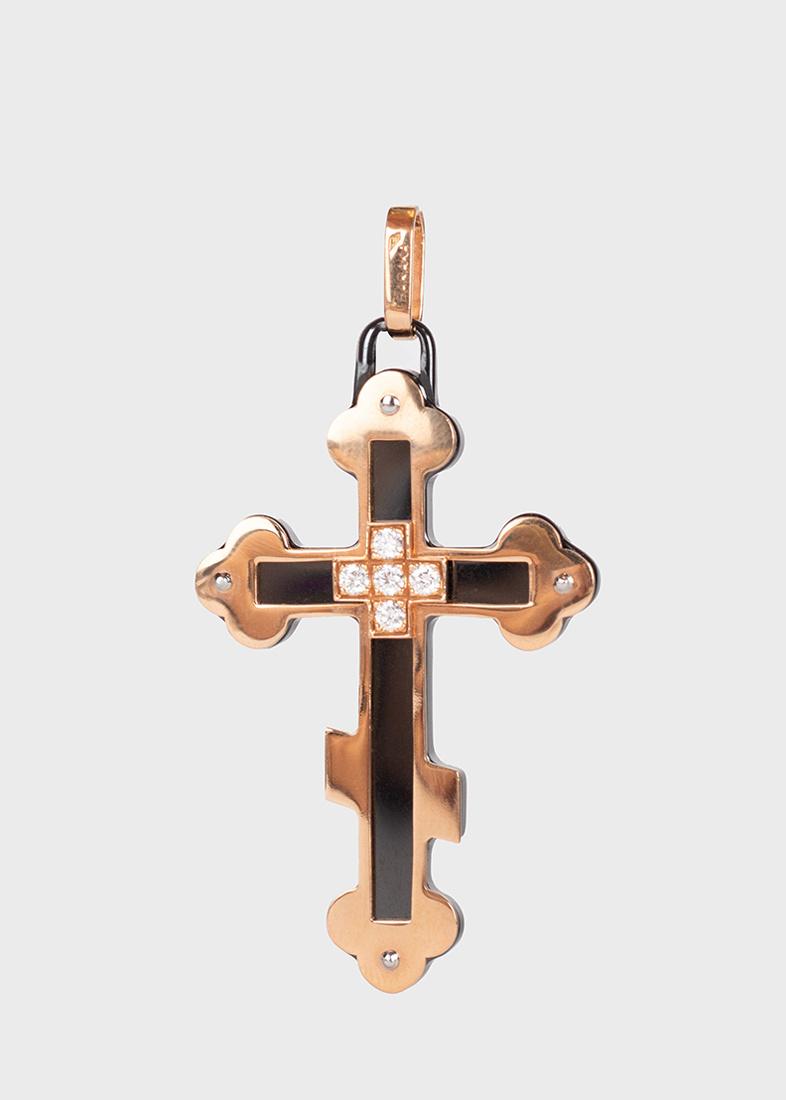 Подвеска-крестик Baraka Prive с белыми бриллиантами
