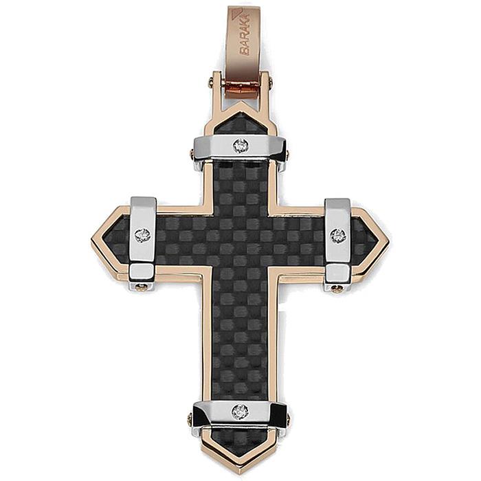 Мужской крест Baraka Fiber с черной карбоновой вставкой