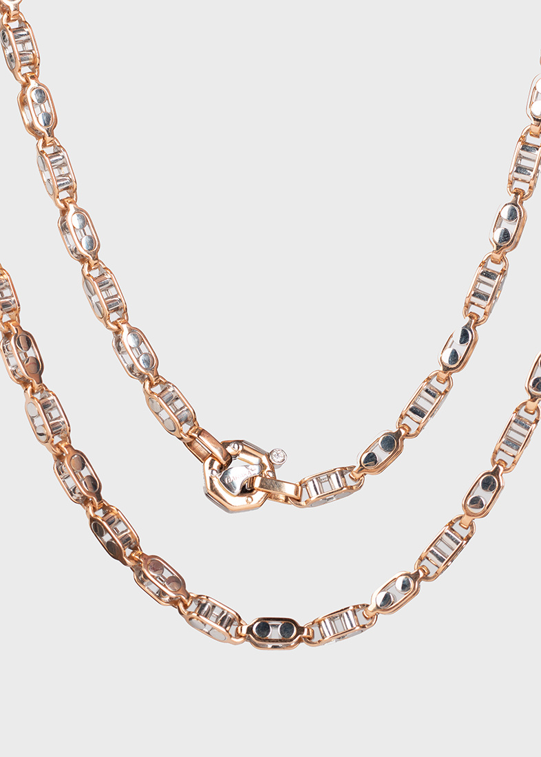 Мужская цепь Baraka с бриллиантом в застежке
