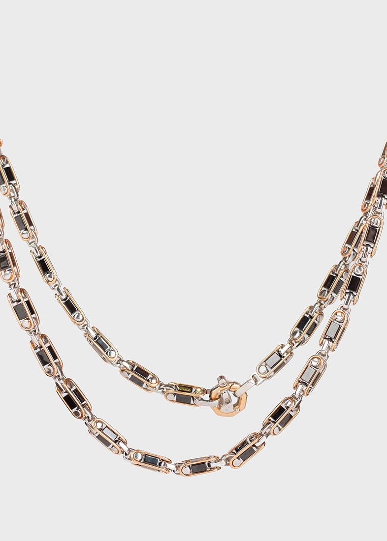 Длинная цепь Baraka Cyborg Ceramic из розового золота