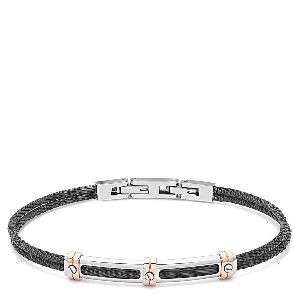 Мужской браслет Comete Wire в черном цвете