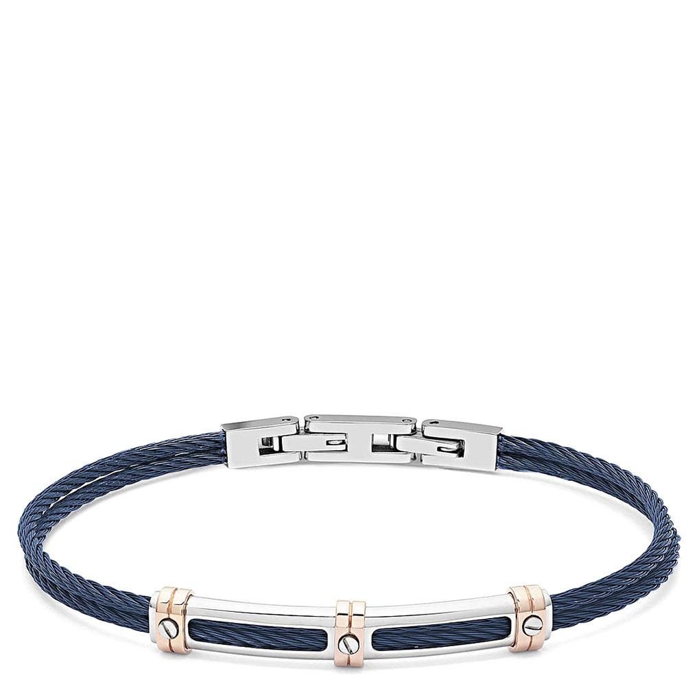 Мужской браслет Comete Wire в виде каната синего цвета