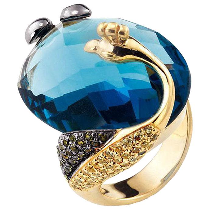 Перстень Misis Liberty с синим обсидианом