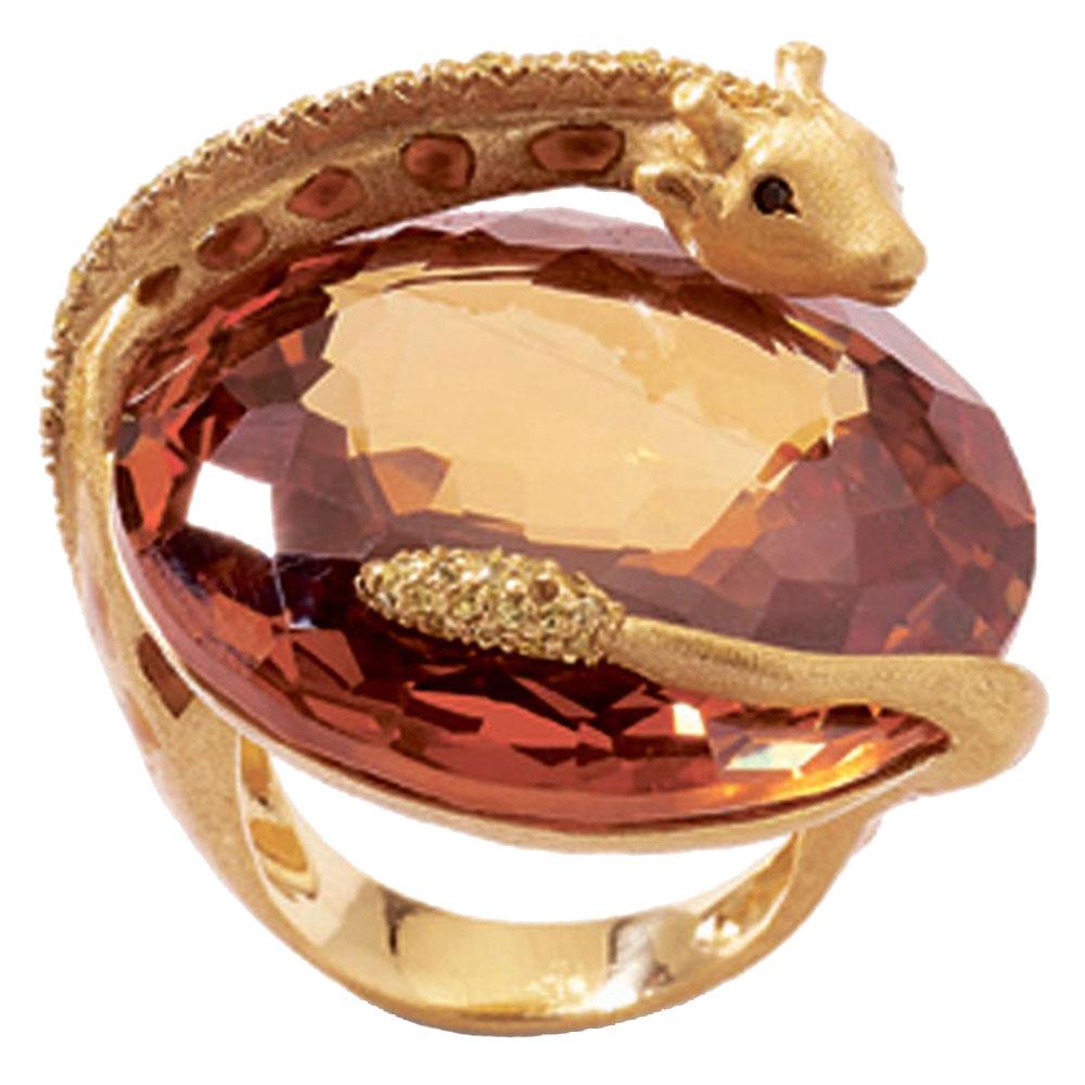 Перстень Misis Africa Queen с крупным кварцем