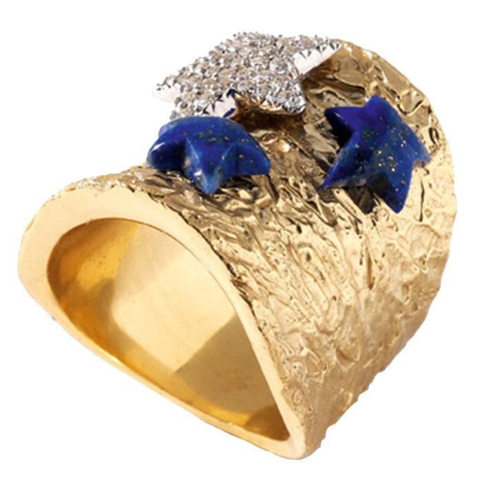 Широкое кольцо Misis Nefertiti с морскими звездами