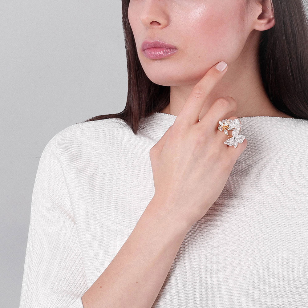 Женское кольцо Misis Marisol с цветами