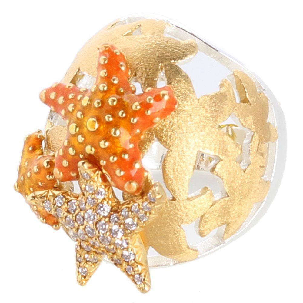 Женский перстень Misis Isla de mujeres с морскими звездами