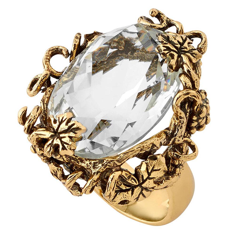 Перстень Misis Champagne с обсидианом