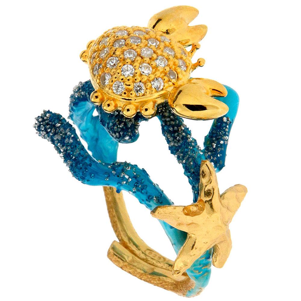 Кольцо Misis Positano в морском стиле