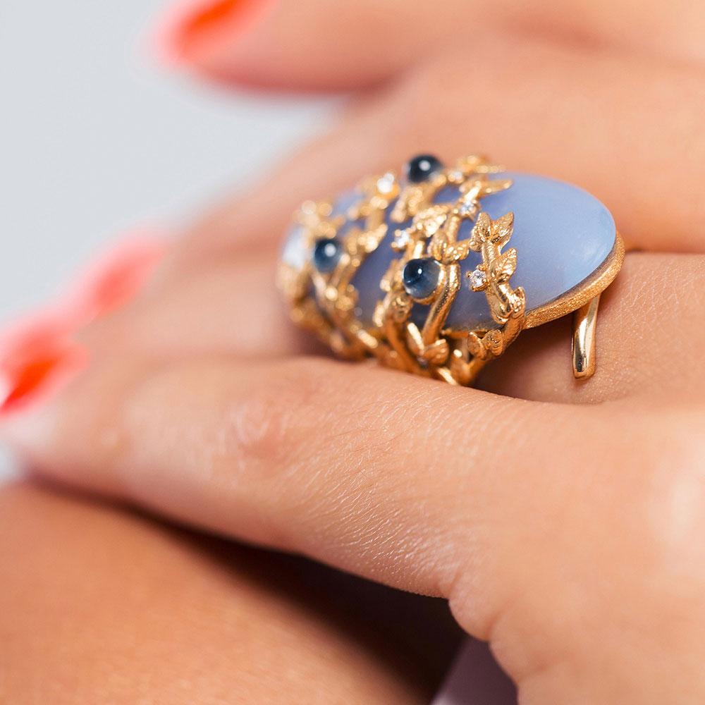 Перстень Misis Naturalia с камнями