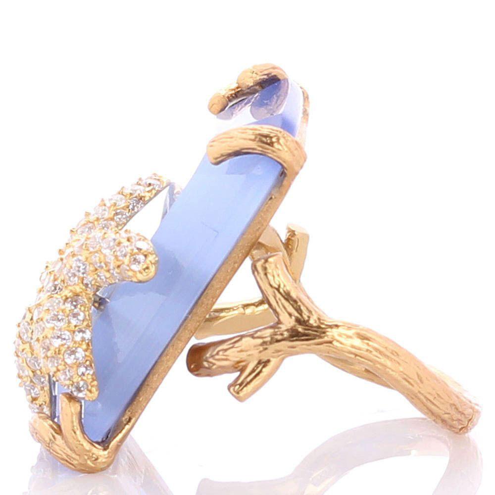 Перстень Misis Nautilus с голубым кварцем и морской звездой
