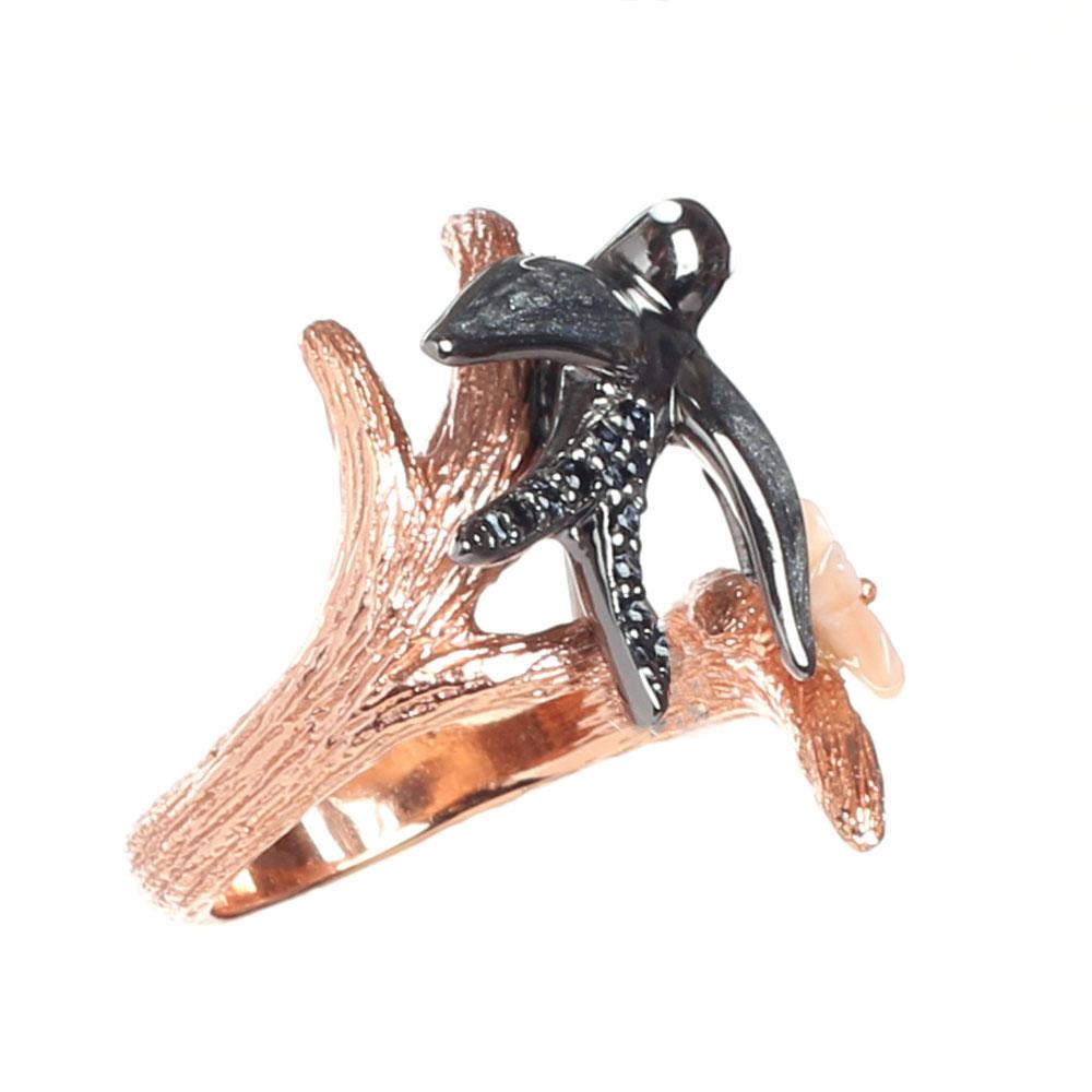 Кольцо Misis Hanami с ласточкой