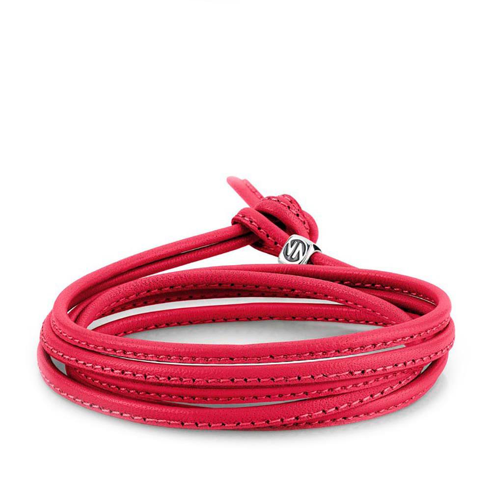 Браслет-шнурок Nomination Mybonbons из кожи красного цвета