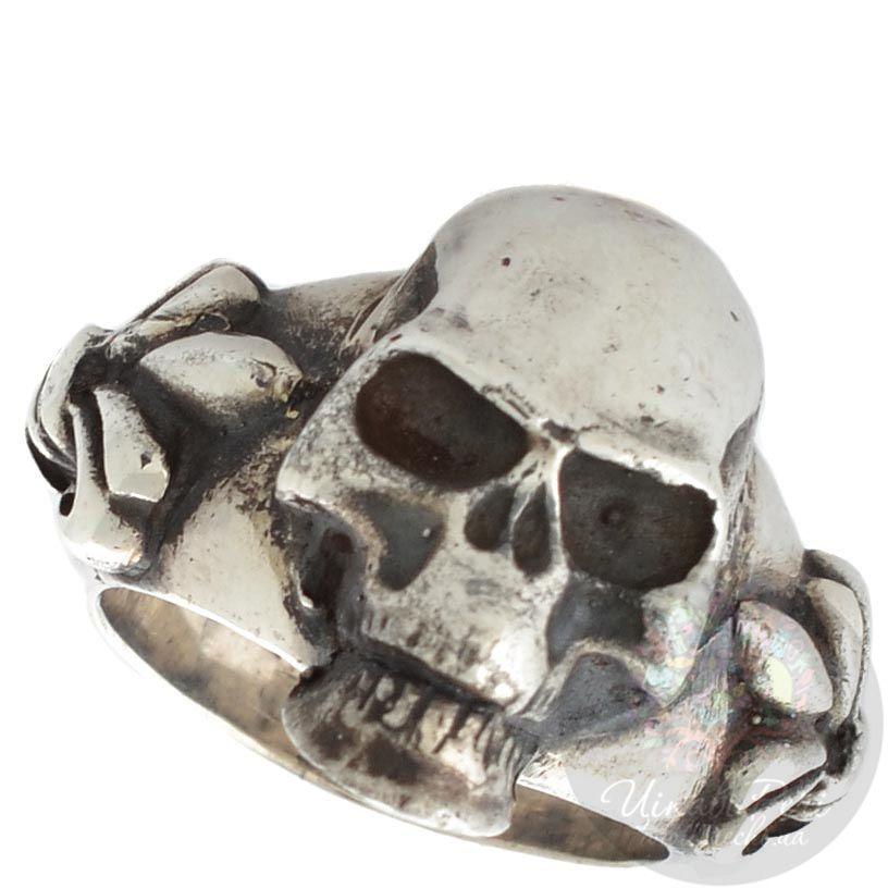 Серебряное мужское кольцо ElfCraft с черепом