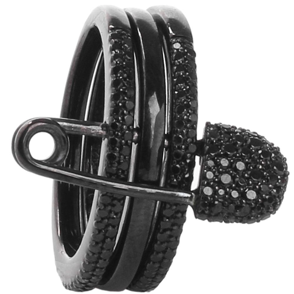 Кольцо черного цвета APM Monaco в виде шпильки