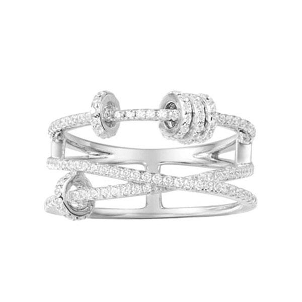 Кольцо из серебра APM Monaco декорированное цирконами