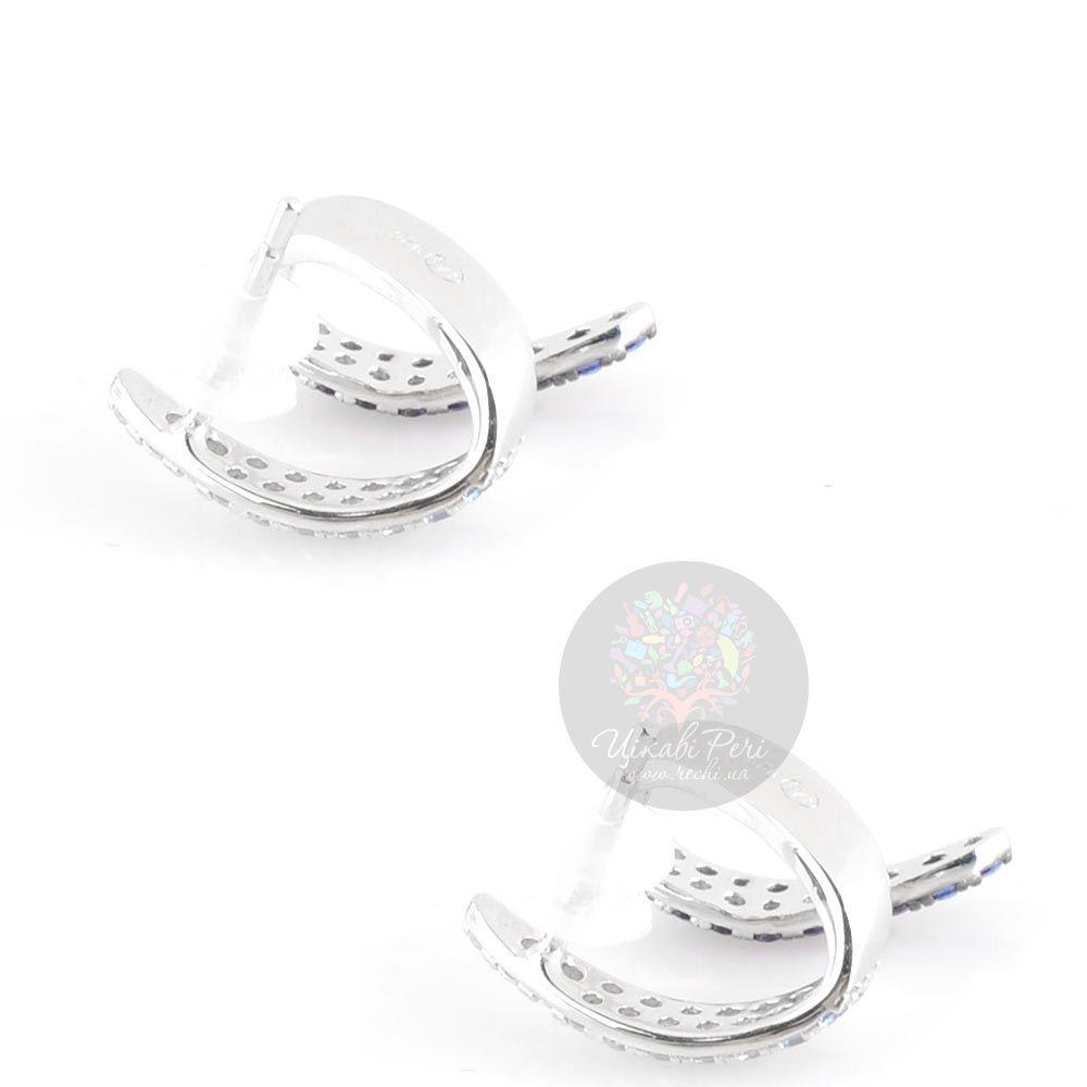 Серьги-пусеты APM Monaco Corail серебряные с цирконами и шпинелью небольшие