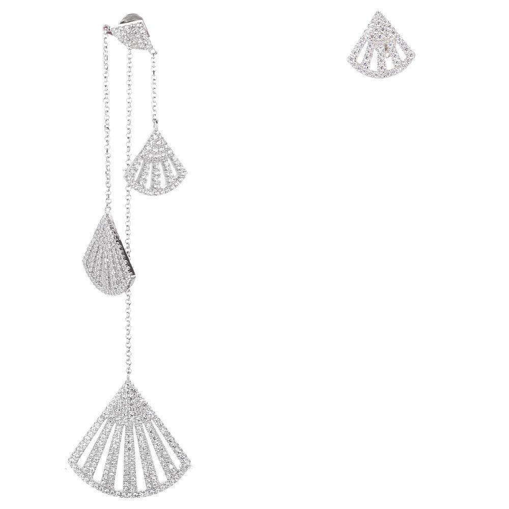 Крупные серьги-подвески APM Monaco Фламенко с цирконами
